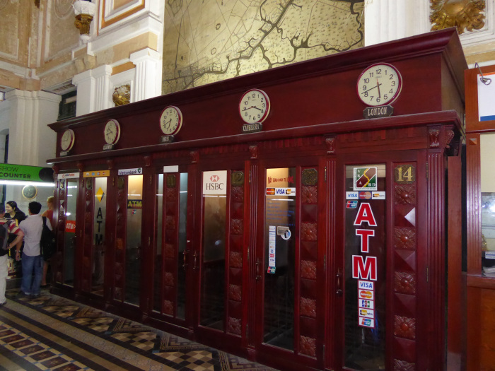 Saigon Post office – once telephones, now ATMs..