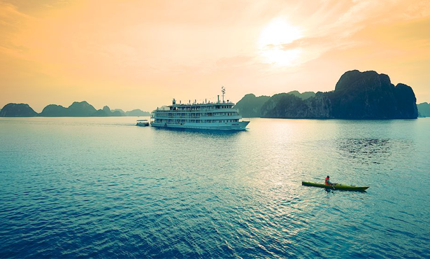 Evening on Halong Bay